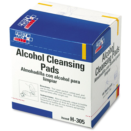 First Aid Only Alcohol Cleansing Pads, 100 count