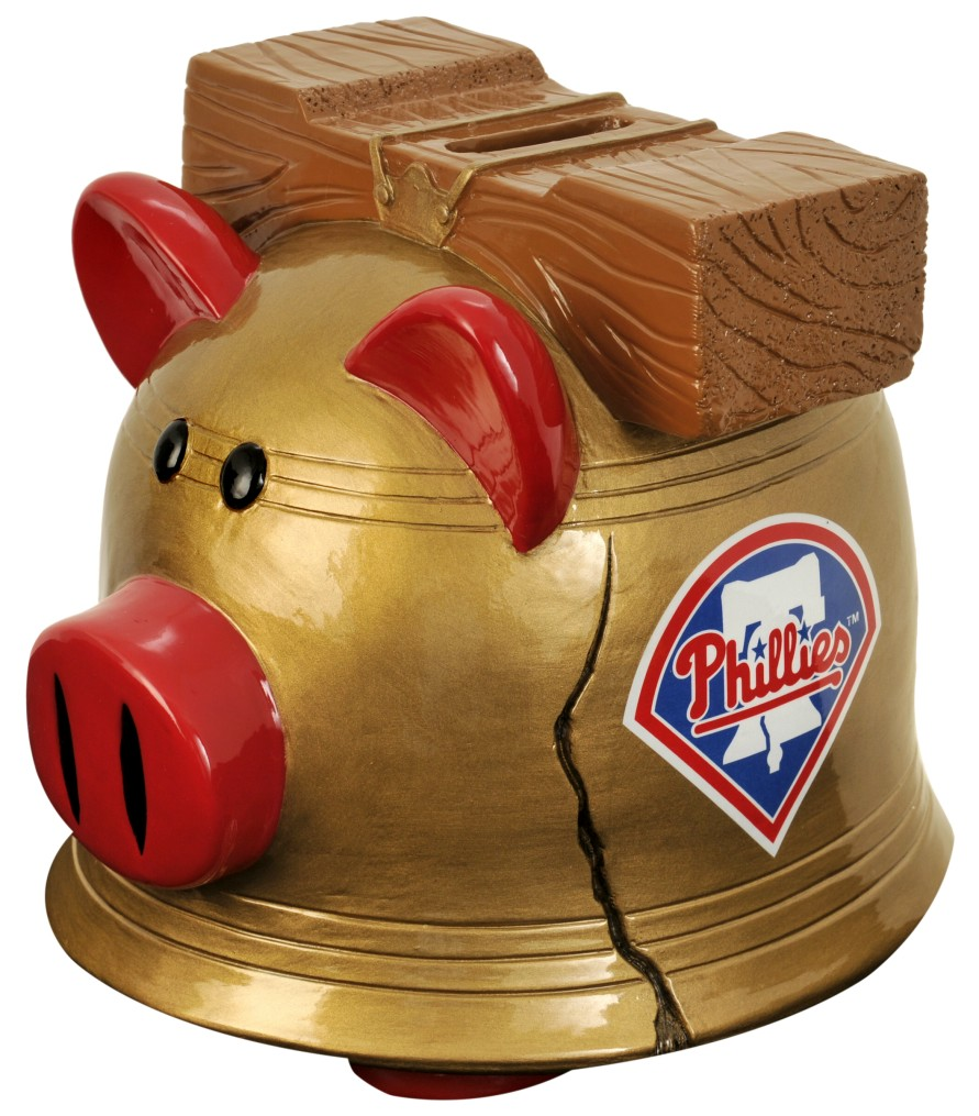 Philadelphia Phillies Piggy Bank Thematic Small by