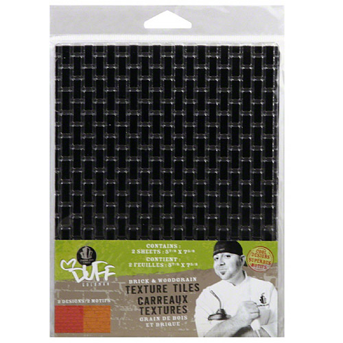 Duff Goldman Woodgrain & Brick Impression Texture Tiles, 2 oz, (Pack of 3)