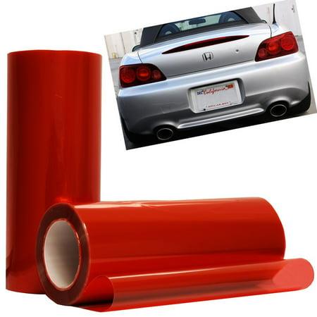 Optix Red Headlight Foglight Protection Guard Vinyl Tint Film (Red Mirror Tint)