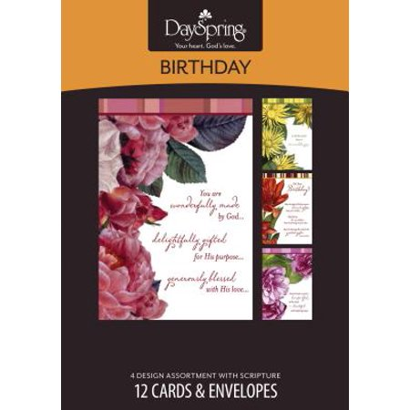 Dayspring Cards 41370 Card Boxed Bday Beautiful Sentiments