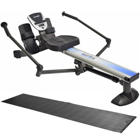 Stamina BodyTrac Glider Rowing Machine (35-1060) with Fold-To-Fit Equipment Mat (Rowing Machine Mat)