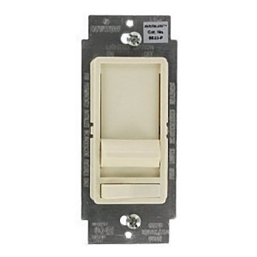 Leviton SureSlide Decora Full Range Slide Dimmer 3-way illuminated, with preset on/off switch. 600W Incandescent Dimmer