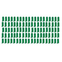 100 Pack Finger Pet Toothbrushes Bulk Value Vet Dog Rescue Shelter Choose Color (Green)