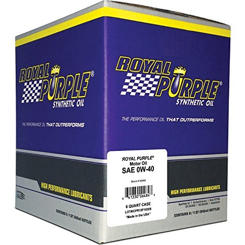 Royal Purple 06484-6PK API-Licensed SAE 0W-40 High Performance Synthetic Motor