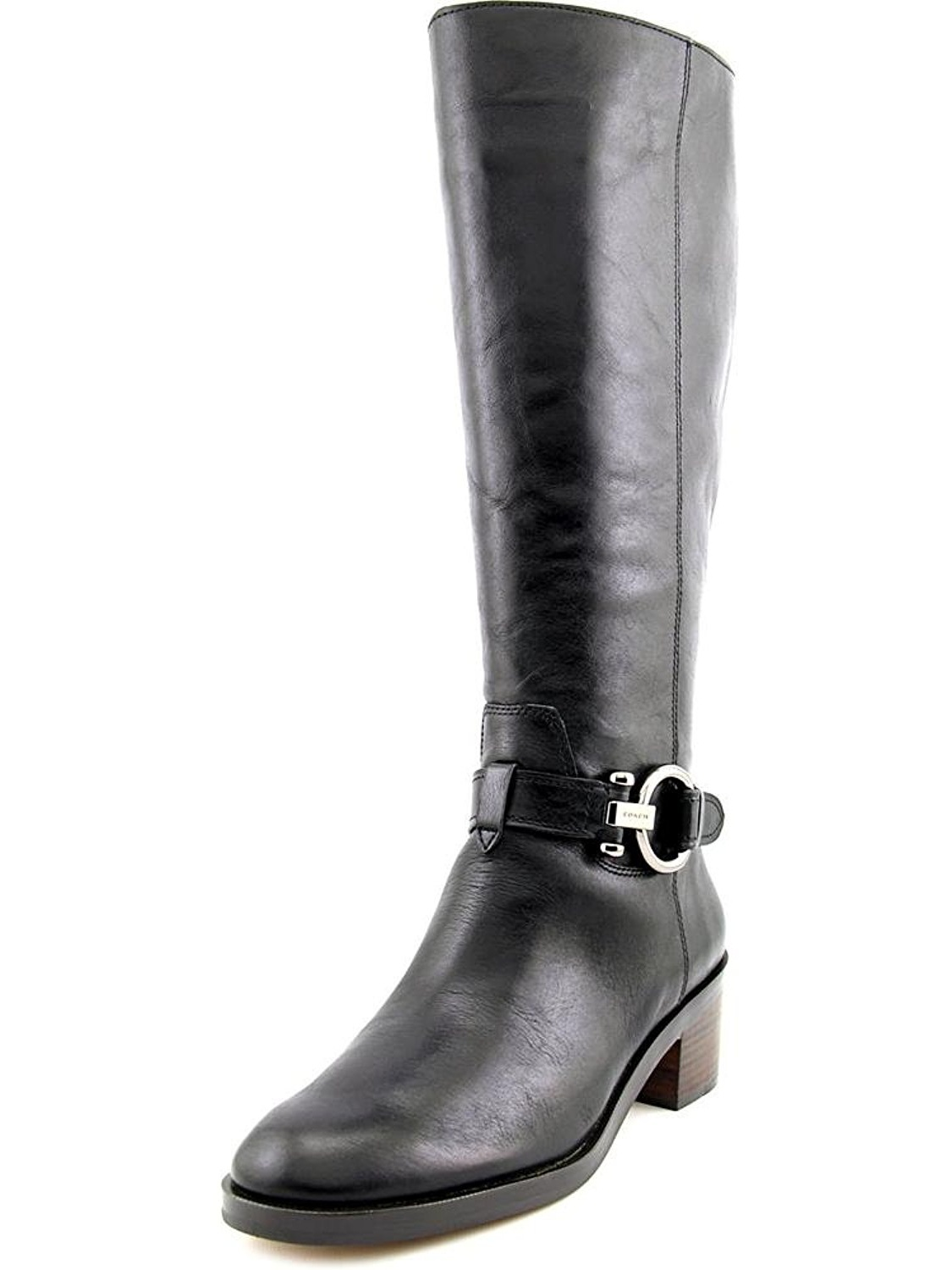 Coach Carolina Wide Calf Round Toe Leather Knee High Boot by Coach