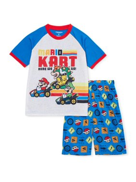 Mario Boys Exclusive 4-12 Short Sleeve Short Pant 2-Piece Pajama Set
