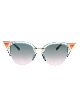ca5fae3413c9 Product Image FENDI 0041 N S 0BR0- JP Transparent Blue Cat eye Sunglasses