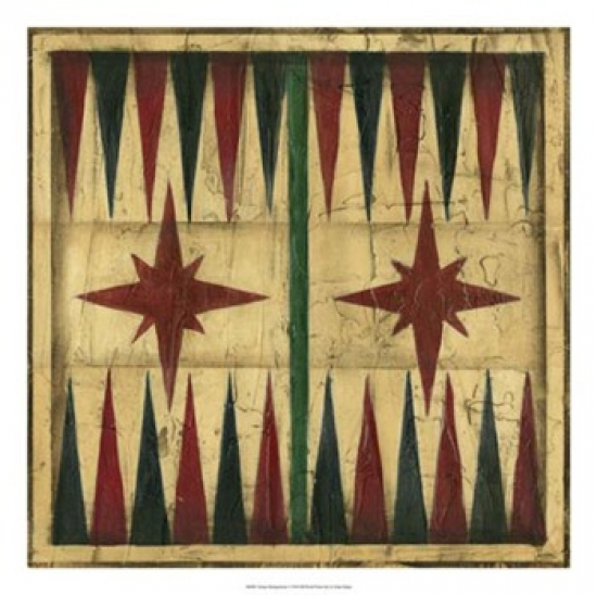 Antique Backgammon Poster Print by Ethan Harper (22 x 22)