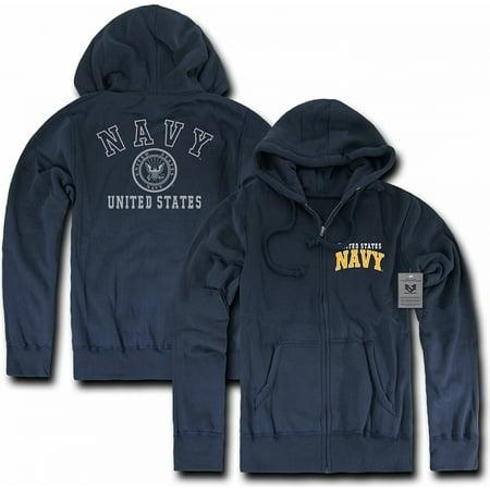 b4ce94492 RapDom Navy Printed Full-Zip-Up Mens Hoodie Jacket [Navy Blue - XL]