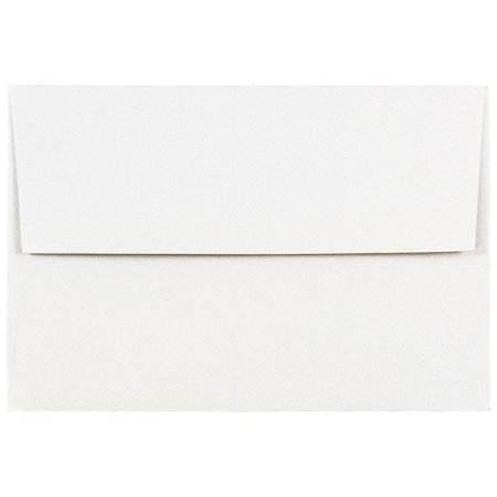 JAM Paper - A7 (5 1/4 x 7 1/4) Talc White Passport Recycled Envelope - 25 envelopes per (Nature Saver Recycled Envelopes)