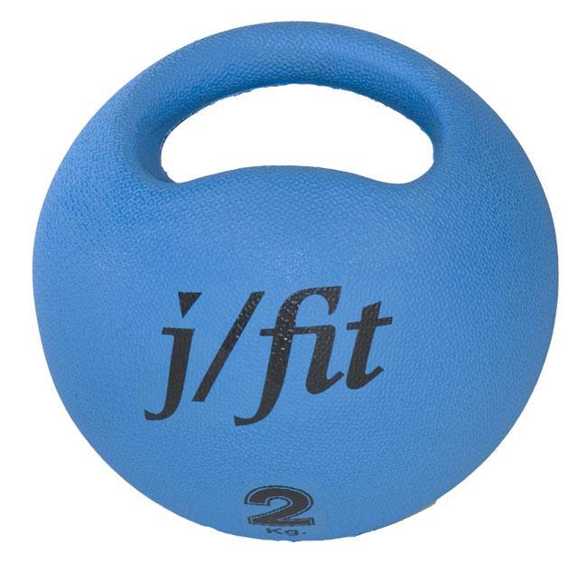 Premium Handle Medicine Ball-Color:Blue,Size:4.4 lb.