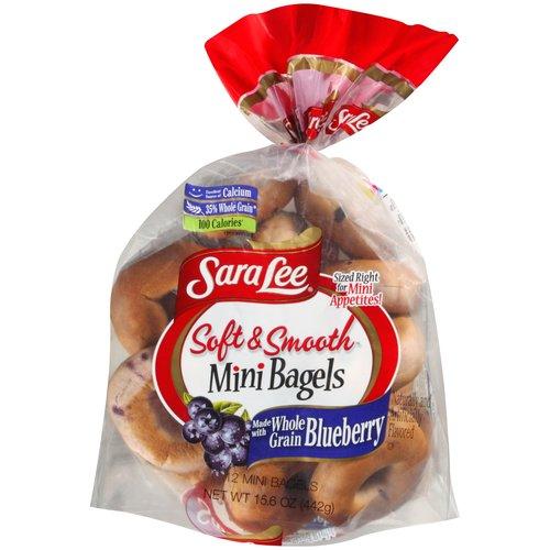 Sara Lee Soft & Smooth Blueberry Mini Bagels, 12 ct, 15.6 oz