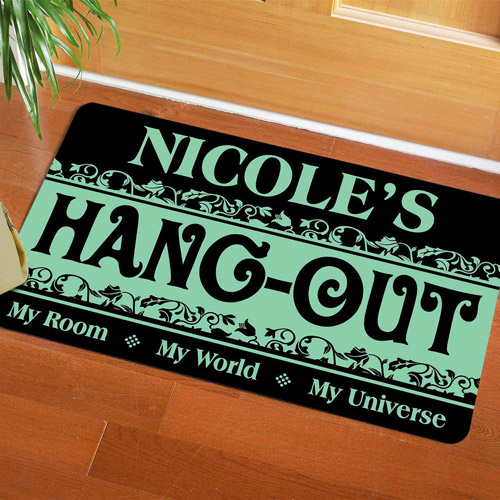 "Personalized My Hangout Doormat, 17"" x 27"""