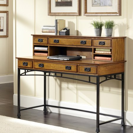 Modern Craftsman Executive Desk and (Arts And Crafts Hutch)