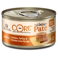 (12 Pack) Wellness CORE Natural Grain Free Pate Wet Canned Cat Food, 3 oz. Cans