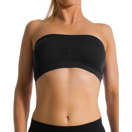Stretch Sports Bra Wire Free Bandeau With Removable Pads Yoga
