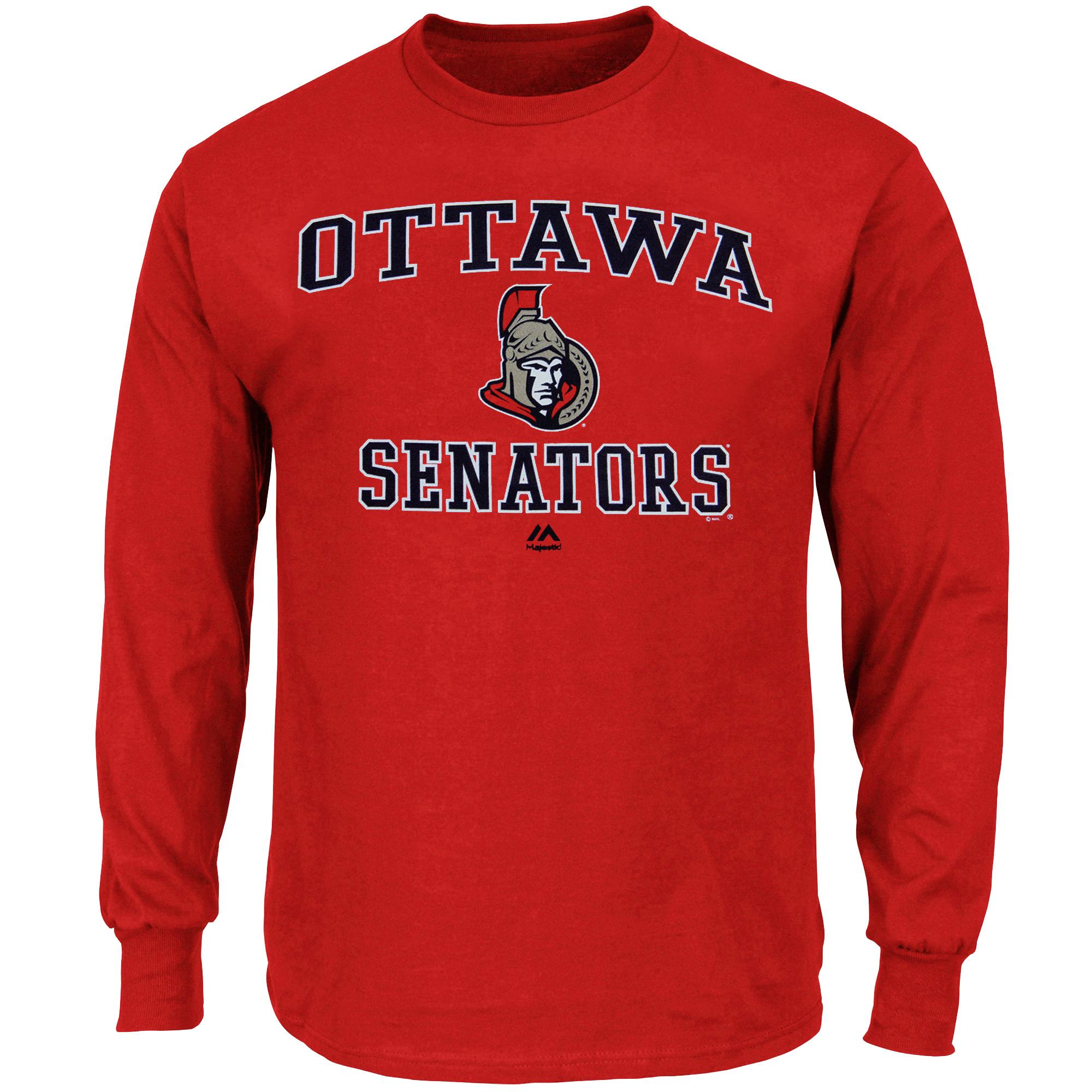 Ottawa Senators Majestic Heart and Soul Long Sleeve T-Shirt - Red