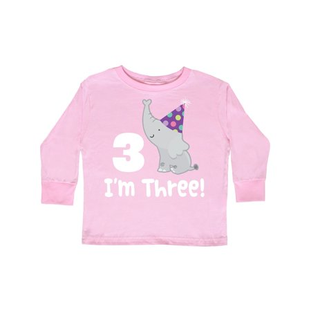 3rd Birthday Zoo Elephant Childs Toddler Long Sleeve T-Shirt