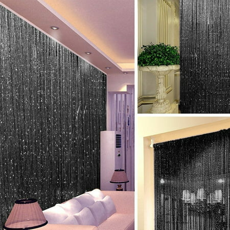 Beaded Door Curtains (String Door Curtain Beads Room Divider Window Tassel Crystal Party Xmas)
