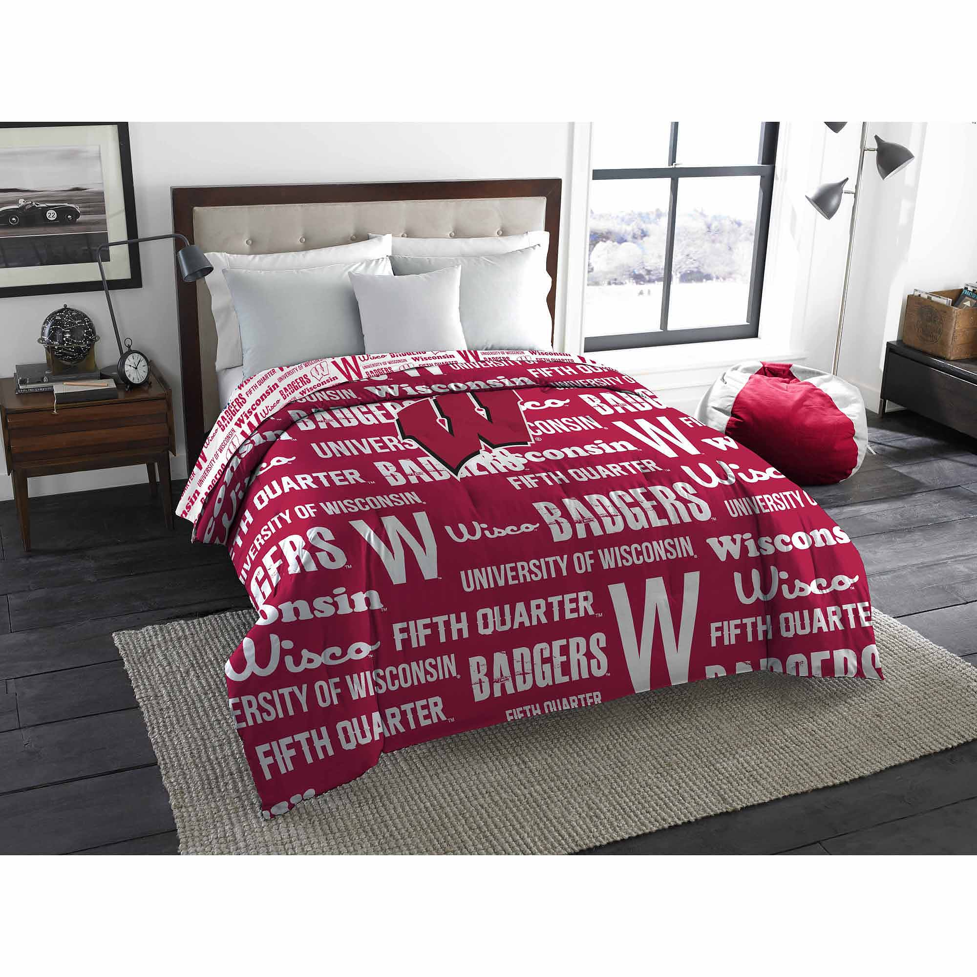 NCAA Wisconsin Badgers Twin/Full Comforter
