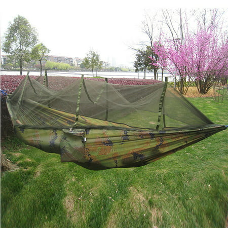 Double Hanging - TMISHION Outdoor Double Person Camping Tent Hanging Hammock Bed with Mosquito Net(Camouflage)