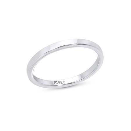 Sterling Silver Stacking Ring (White Gold Stack Ring)