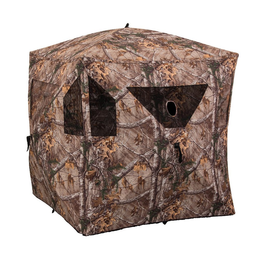 Ameristep Brickhouse Realtree Xtra Camo Lightweight Pop Up Ground Hunting Blind