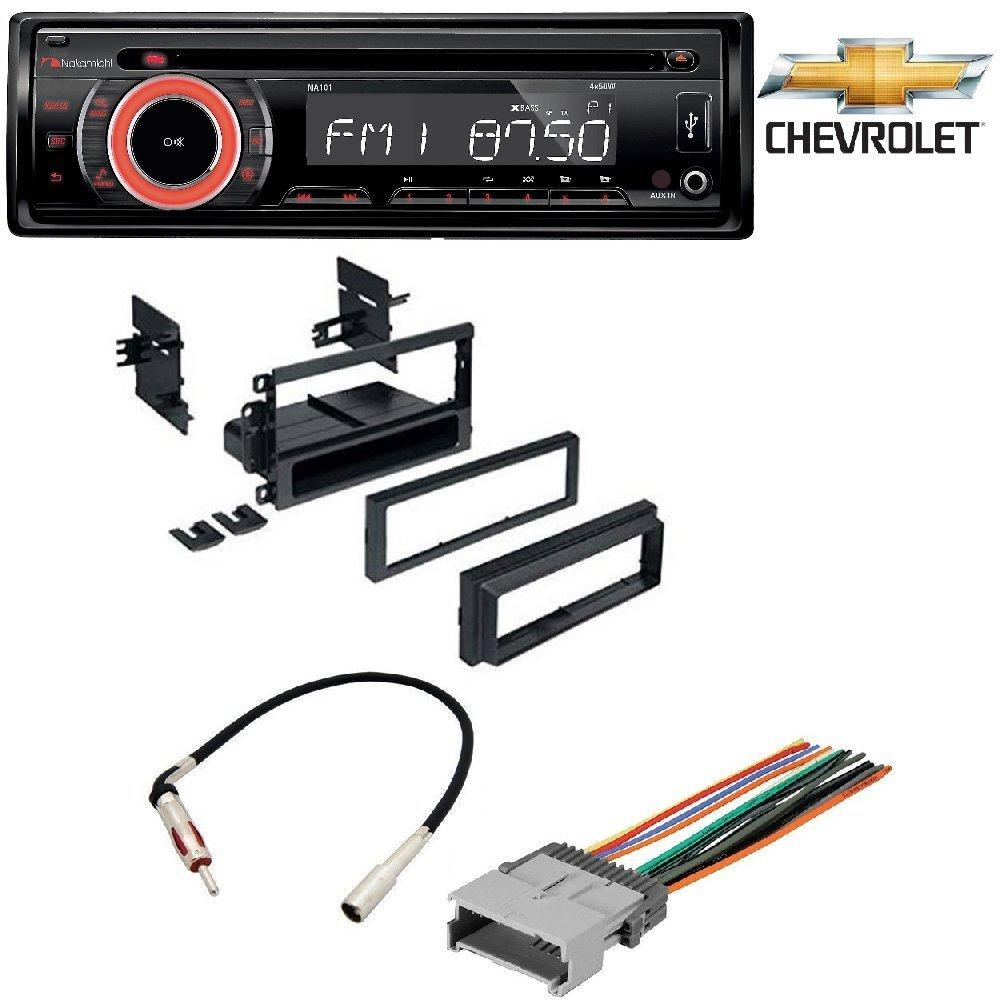 Nakamichi Na101 Car Stereo Radio Cd Usb Aux 50watts X 4 Detachable Wiring Chevy Clock Face Security Dash Kit Harness Antenna For Gm Gmc Cadillac Pontiac