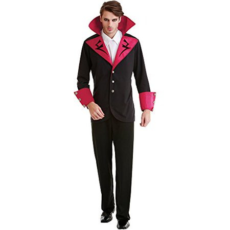 Boo! Inc. Virile Vampire Adult Men's Halloween Dress Up Theme Party Cosplay Costume - Halloween Opening Theme 1978