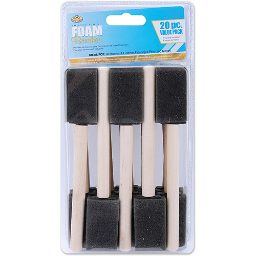 "Royal Brush Foam Brushes, 20-Pack, 1"" Wide"