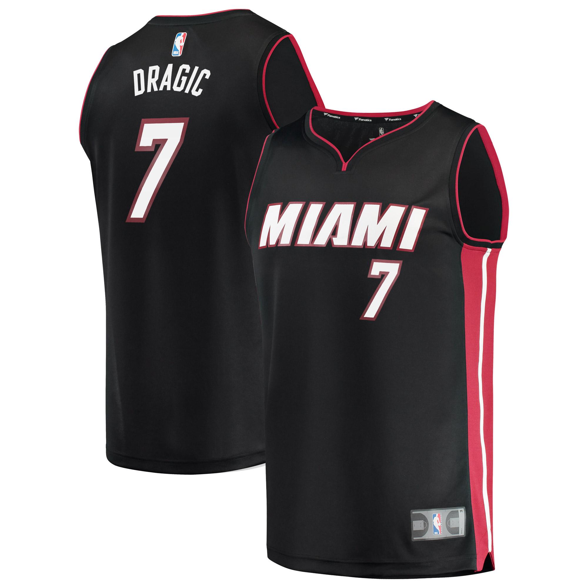 Goran Dragic Miami Heat Fanatics Branded Fast Break Replica Jersey Black - Icon Edition