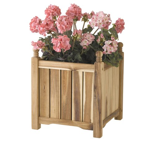 Square Solid Wood Lexington Planter Box