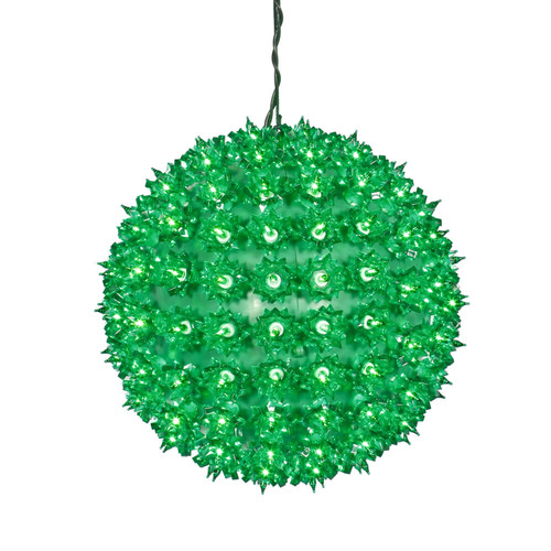 Vickerman Green Twinkle Star Sphere - 150 Lights