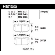 Hawk 1990-1990 Mazda RX-7 GXL (w/Elec Adjust Susp) HPS 5.0 Front Brake Pads