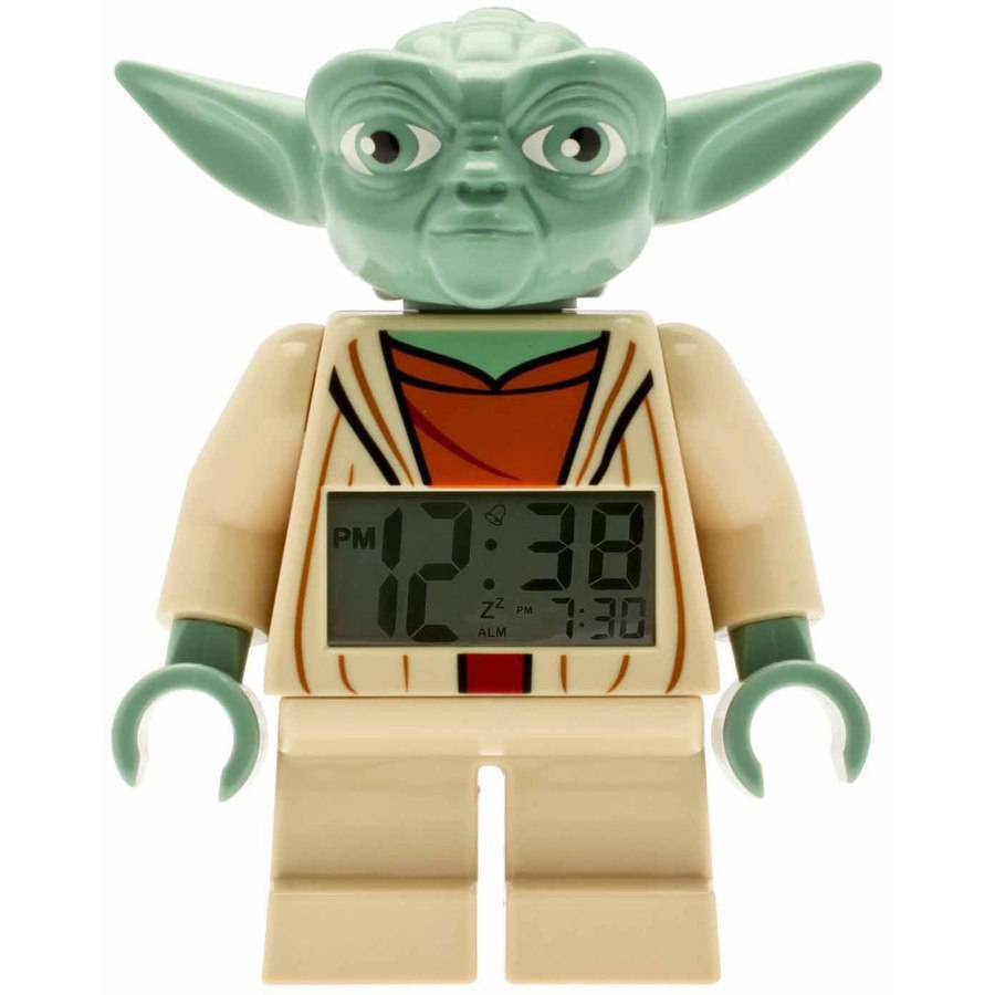 LEGO Star Wars Yoda Kids' Minifigure Moveable Alarm Clock