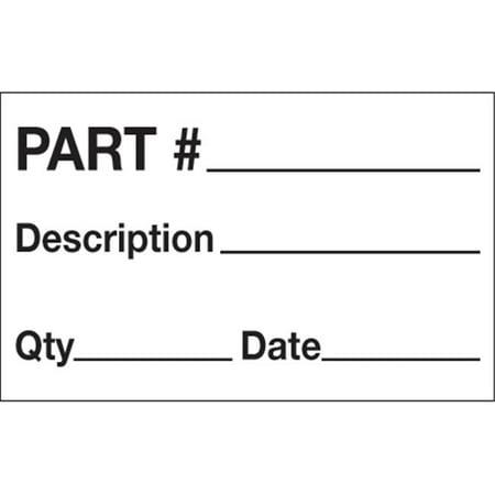 Tape Logic DL1183 1.25 x 2 in. - Part No.- Description - Quantity - Date Labels, Black & White - Roll of 500 - image 1 of 1