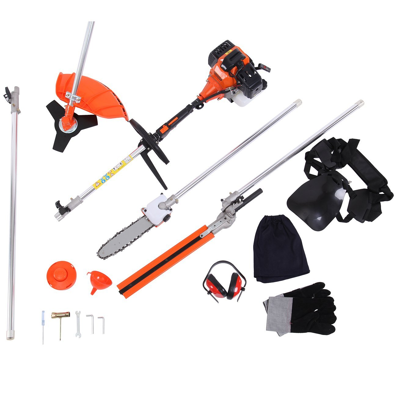 5 in 1 52cc Powerful Petrol Hedge Trimmer Chainsaw Brush ...