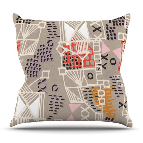 East Urban Home Nico by Gill Eggleston Outdoor Throw Pillow