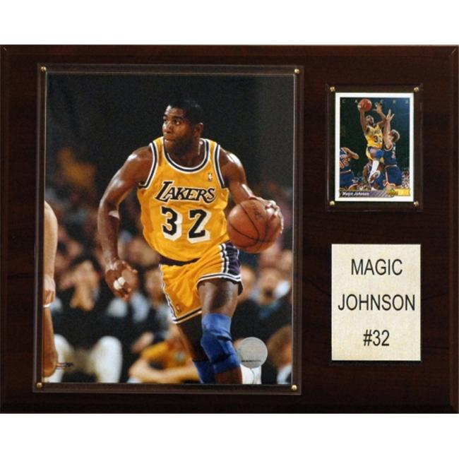 C & I Collectables 1215MAGIC NBA Magic Johnson Los Angeles Lakers Player Plaque