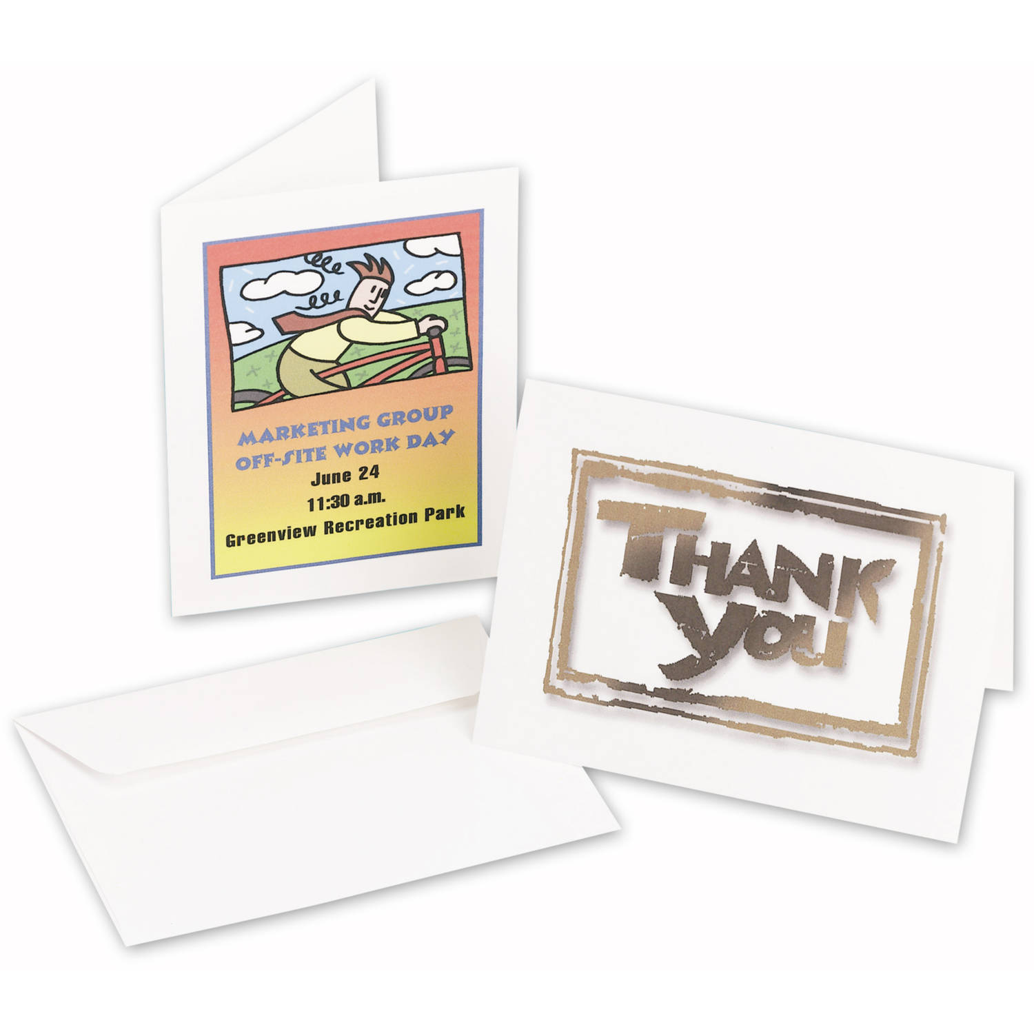 "Avery Note Cards 8315, 4-1/4"" x 5-1/2"", White, Matte, Box of 60"