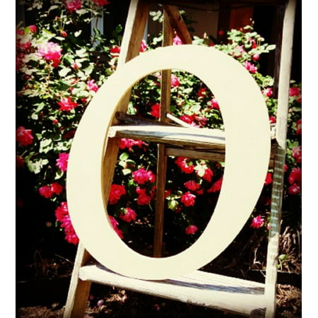 Unfinished DIY Letter Decor, 12'' Monotype O,  Wooden Alphabet Letter ()
