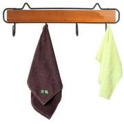 Retro Wood Wall Mount Metal Hook Rack Holder Coat Hat Hanger Bag Key Organizer Home Decor