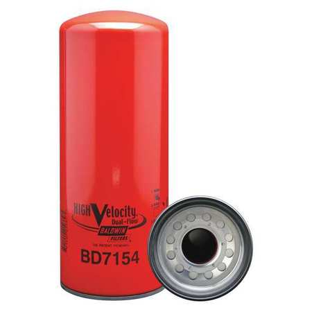 Oil Fltr,Spin-On,High Velocity,Dual-Flow BALDWIN FILTERS BD7154