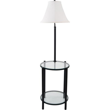 Glass End Table With Lamp