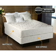 """Legacy Twin Size (39""""x75""""x8"""") Mattress and Box Spring Set - Fully Assembled, Good for your back, Superior Quality - Long Lasting and 2 Sided - By Dream Solutions USA"""