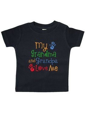 My Grandma and Grandpa Love Me Baby T-Shirt