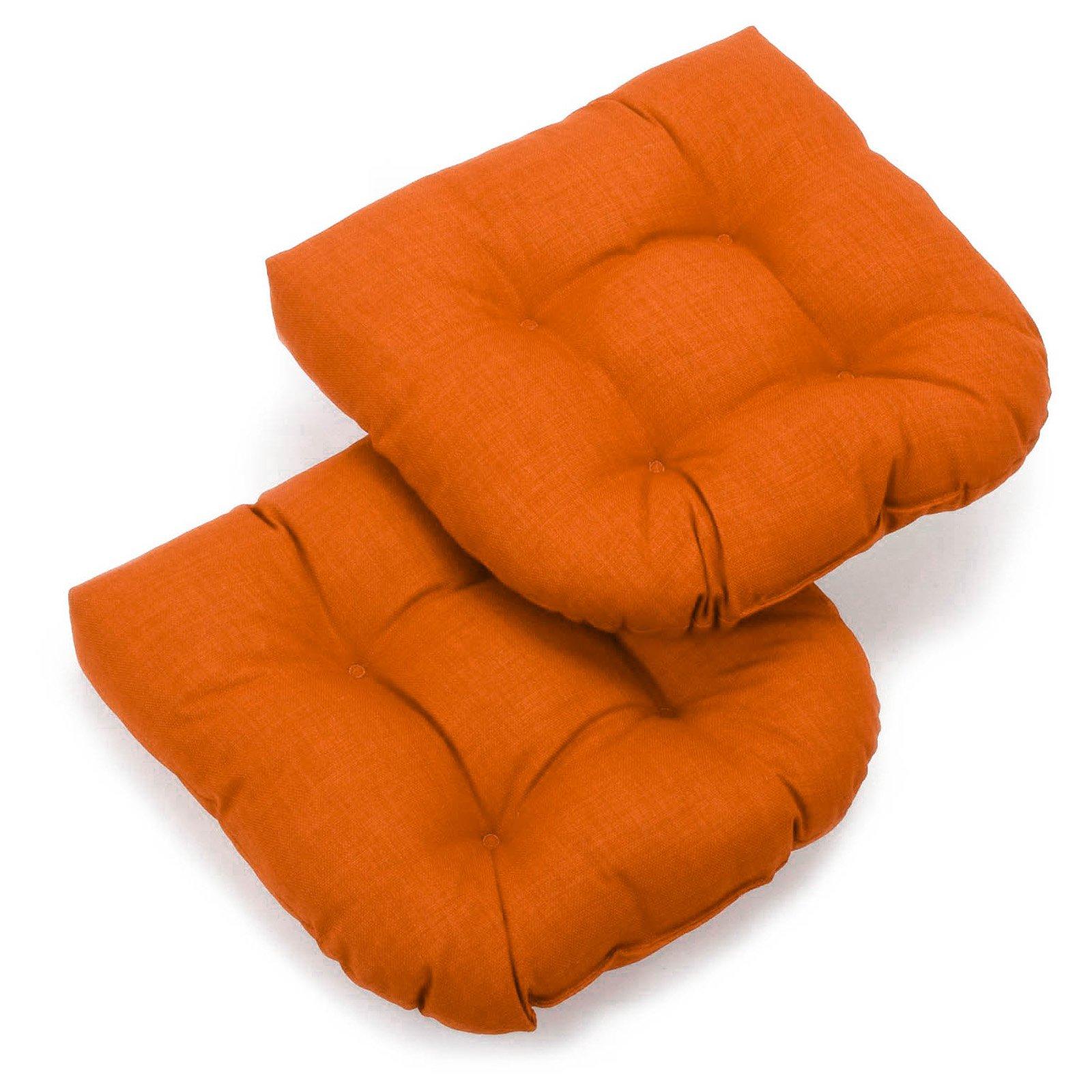 Blazing Needles 19 x 19 in. Patio Chair Cushion - Set of 2