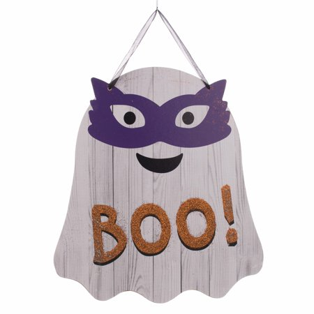 Black And White Halloween Table Decorations' (Wooden Halloween Ghost 9.75