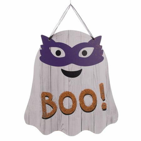 Wooden Halloween Ghost 9.75